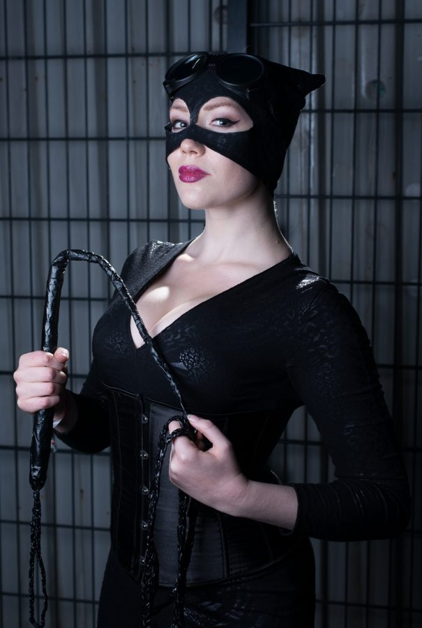 Catwoman cosplay photosession with RebbKatt at Geekcore 2015 i Valby Kulturhus, Valby den 17. October 2015