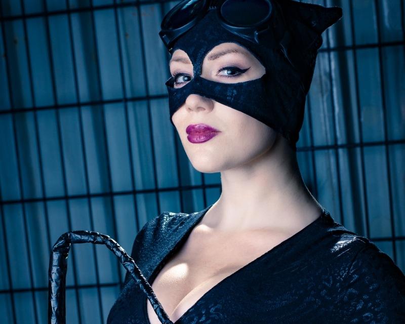 Catwoman cosplay fotoshoot med RebbKatt cosplay
